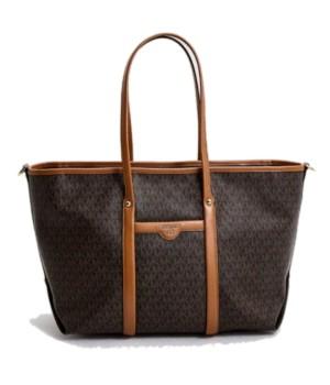 Сумка-шоппер Michael Kors BECK коричневая с надписями