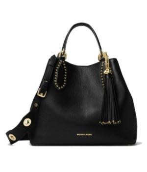 Сумка Michael Kors Brooklyn Small Leather Grab Bag черная
