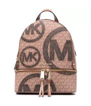 Рюкзак Michael Kors Rhea с монограмой коричневый