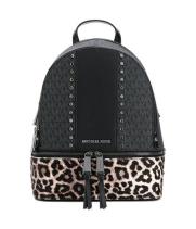Рюкзак Michael Kors Rhea черный с леопардовым