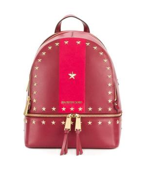 Рюкзак Michael Kors Rhea со звездами красный