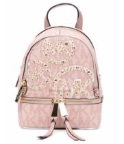 Рюкзак Michael Kors Rhea Mini с лого розовый