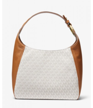 Michael Kors Fulton Large Logo and Leather Shoulder Bag