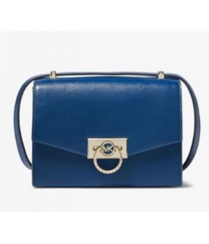 Michael Kors Hendrix Extra-Small Leather Crossbody Bag синяя