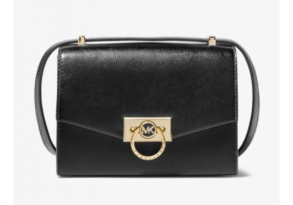 Michael Kors Hendrix Extra-Small Leather Crossbody Bag