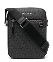 Мужская сумка Michael Kors черная с надписями