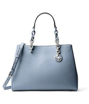Сумка Michael Kors Synthia с логотипом бренда синяя