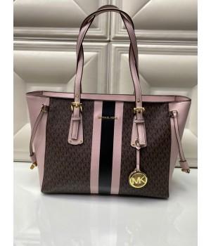 Сумка-шоппер Michael Kors BECK розово-коричневая