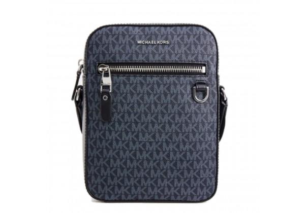 Мужская сумка Michael Kors синяя с надписями