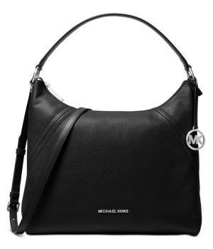 Сумка Michael Kors Aria с логотипом бренда черная