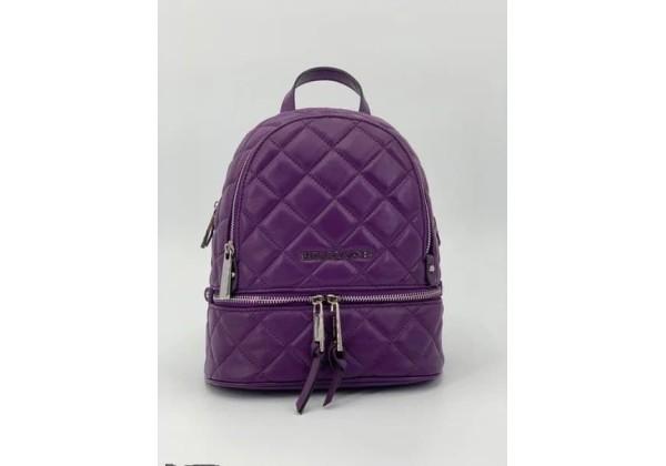 Рюкзак Michael Kors Rhea стеганый моно фиолетовый