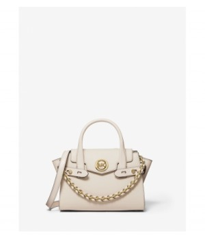 Michael Kors Carmen Extra-Small Two-Tone Crocodile-Embossed Leather Belted Satchel