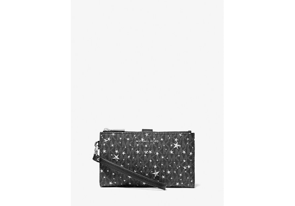 Michael Kors Adele Star Embellished Logo Smartphone Wallet