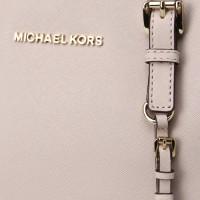 Сумка Michael Kors Jet Set Travel с логотипом бренда бежевая