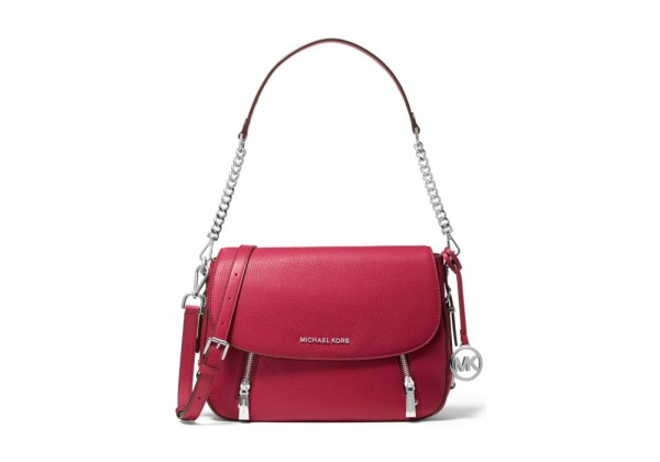 Michael Kors Bedford Legacy Leather Flap Shoulder Bag красная