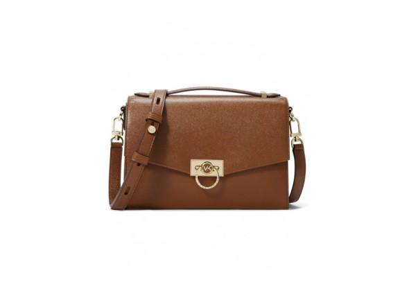 Michael Kors Hendrix Medium Leather Messenger Bag