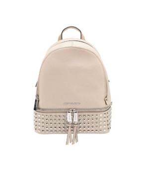 Рюкзак Michael Kors Rhea с заклепками и замочком бежевый