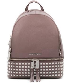 Рюкзак Michael Kors Rhea с заклепками светло-розовый