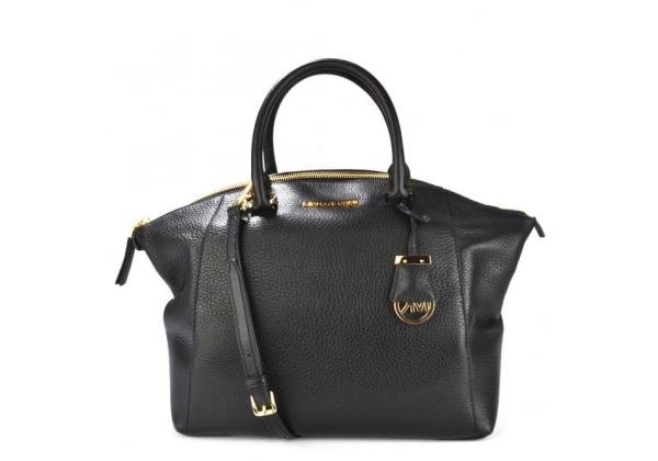 Сумка Michael Kors Riley LARGE Leather Satchel черная