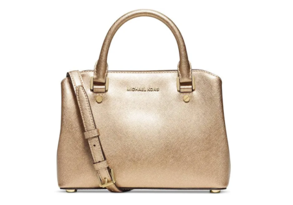 Сумка Michael Kors Savannah Small Leather Satchel золотистая