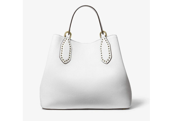 Сумка Michael Kors Brooklyn Small Leather Grab Bag белая