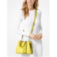 Сумка Michael Kors Brooklyn Small Leather Grab Bag желтая