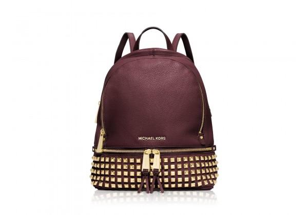 Рюкзак Michael Kors Rhea с заклепками темно-красный