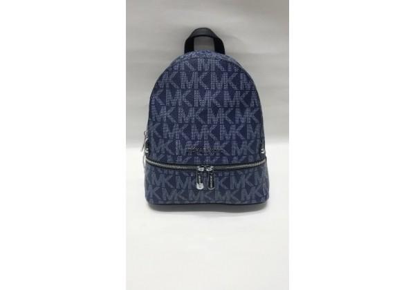Рюкзак Michael Kors Rhea c логотипом бренда темно-синий