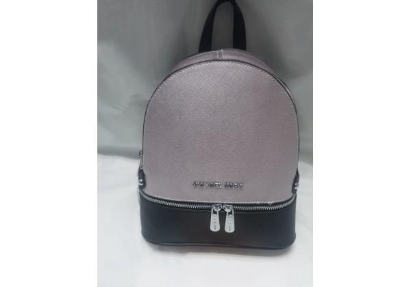 Рюкзак Michael Kors Rhea розовый перламутровый с черным