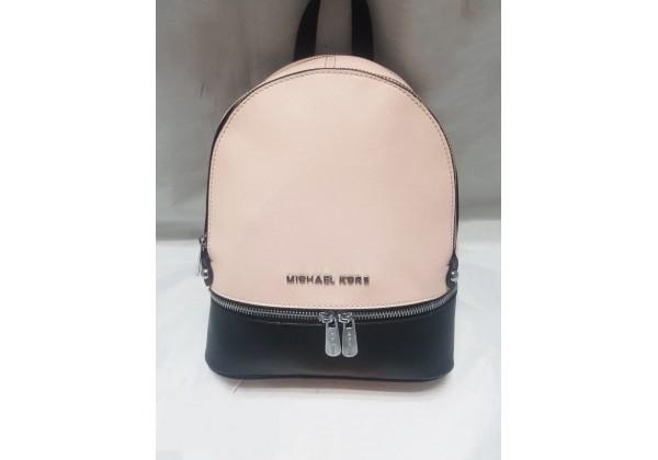 Рюкзак Michael Kors Rhea женский черный с пудрой