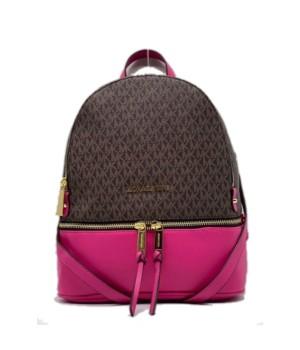 Рюкзак Michael Kors Rhea коричнево-розовый с золотым