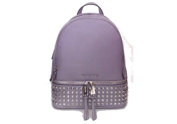 Рюкзак Michael Kors Rhea с заклепками и замочком фиолетовый