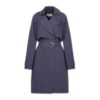 Пальто Michael Kors Doubl Collar Drapy Trench синее