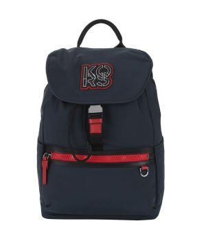 Рюкзак мужской Michael Kors с логотипом сине-красный