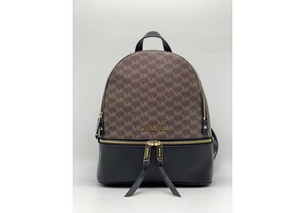 Рюкзак Michael Kors Rhea коричнево-черный с золотым