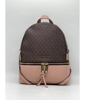 Рюкзак Michael Kors Rhea коричнево-бежевый с золотым