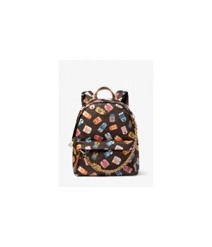 Рюкзак Michael Kors Slater Medium на цепочке с принтом коричневый