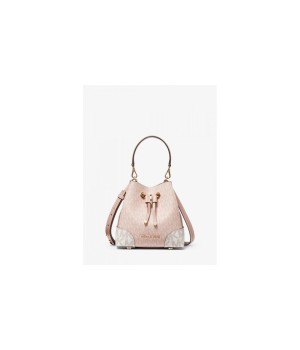 Сумка Michael Kors Mercer Gallery Extra-Small розово-белая
