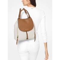 Michael Kors Viv Large Logo and Leather Backpack