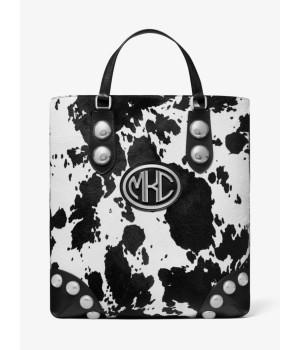 Michael Kors Monogramme Studded Pony Print Calf Hair Tote Bag