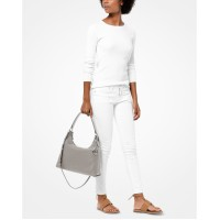 Michael Kors Aria Pebble Leather Shoulder Bag