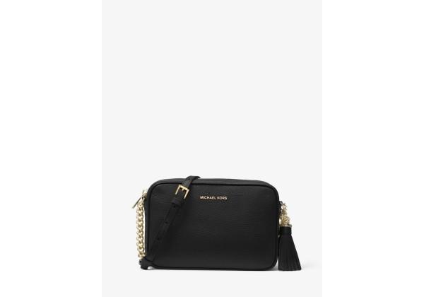 Michael Kors Ginny Leather Crossbody Bag с золотистой цепочкой