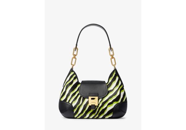 Michael Kors Bancroft Medium Zebra Calf Hair Shoulder Bag