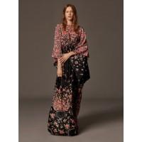 Michael Kors Bancroft Oversized Floral Calf Leather and Snakeskin Shoulder Bag