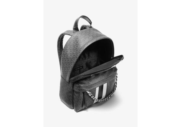 Рюкзак Michael Kors Slater Medium Stripe с логотипом черный