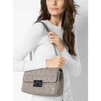 Сумка Michael Kors Sloan Editor Quilted-Leather - Pearl Gray