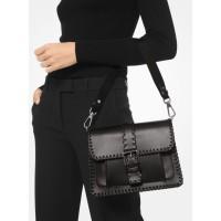 Michael Kors Simone Whipstitch Leather Belted Shoulder Bag