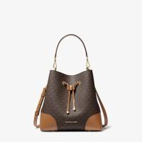 Сумка Michael Kors Mercer Gallery Medium Logo Shoulder Bag - Brown/Acorn