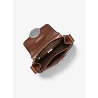 Michael Kors Monogramme Burnished Calf Leather Shoulder Bag