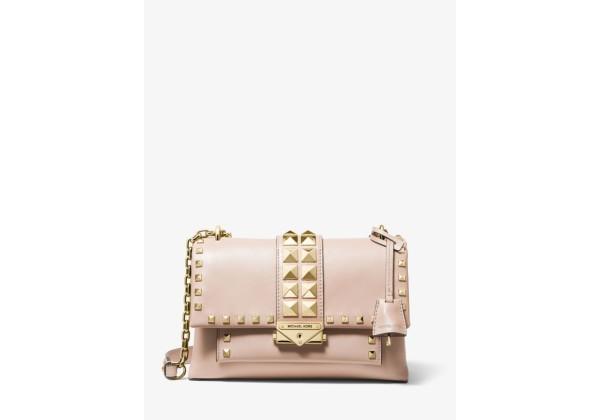 Michael Kors Cece Medium Studded Leather Convertible Shoulder Bag